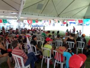 Nazioarteko MST lagunen ordezkaritza Brasilian ospatutako VI. Kongresuan