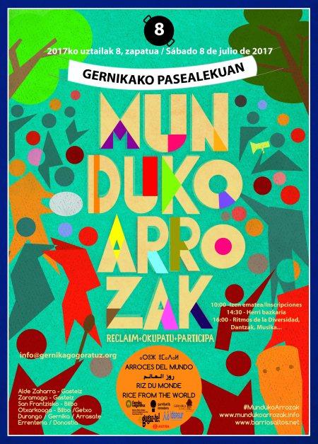 Kartel 2017ko Munduko Arrozak Gernikan