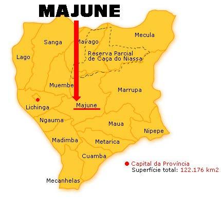 Mapa Majune